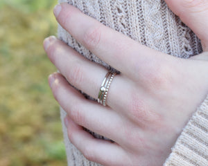 Stackable Hammered Ring / Sterling Silver Band / Made to Order
