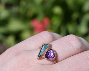 Personalized Ring / Copper / Custom Birthstone Jewelry / Made to Order