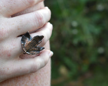 Load image into Gallery viewer, Copper Real Washington Hawthorne Leaf Ring / Electroformed / Ready to Ship