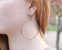 Load image into Gallery viewer, Large Hoop Earrings / Copper / Made to Order