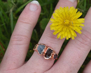 Custom Birthstone Ring / Copper / Jewelry for Mom / Made to Order