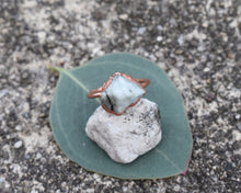 Load image into Gallery viewer, Copper Emerald Statement Ring / May Birthstone / Made to Order