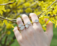 Load image into Gallery viewer, Silver Rainbow Moonstone Ring / June Birthstone / Ready to Ship
