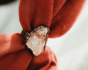 Fire Quartz Statement Ring / Copper / Made to Order
