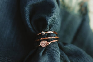 Stackable Leaf Ring / Copper, Silver, or Mixed Metal / Made to Order