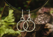 Load image into Gallery viewer, Medium Hoop Earrings / Silver / Made to Order