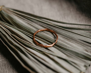 Stackable Hammered Ring / Copper Band / Made to Order