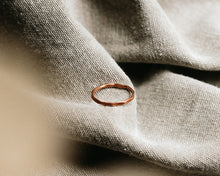Load image into Gallery viewer, Stackable Hammered Ring / Copper Band / Made to Order