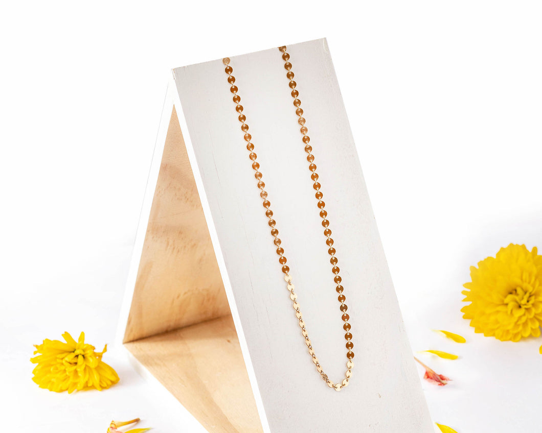 14k Gold Disc Choker Necklace / Made to Order