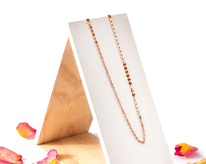Rose Gold Disc Choker Necklace / Made to Order
