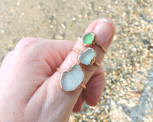 Load image into Gallery viewer, Seaglass Ring, Seaglass Art, Seaglass Jewelry, Beach Glass Ring, Electroformed Ring, Beach Gifts Women, Beach Glass Jewelry, Lake Erie