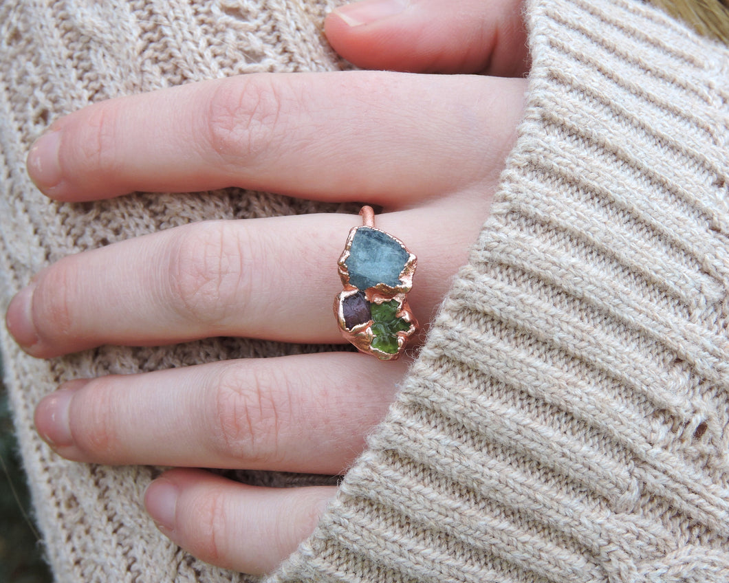 Custom Birthstone Ring, Custom Mom Jewelry, Custom Mothers Ring, Personalized Birthstone, Birthstone Ring Mom, Organic Ring, Present Mom