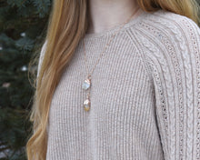 Load image into Gallery viewer, Citrine Necklace, Raw Citrine Jewelry, Yellow Citrine Pendant, Crystal Drop Necklace, Rose Gold Necklace Women, Elegant Gift Her