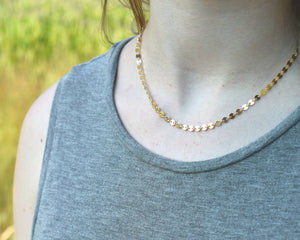 14k Gold Choker, Dainty 14k Necklace, 14k Gold Filled Necklace, Elegant Gold Necklace, Metal Choker, Dainty Choker, Romantic Gifts Her