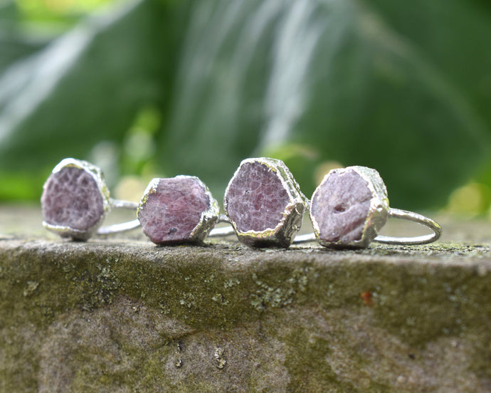 Ruby Ring Silver, Ruby Birthstone, Ruby Jewelry Women, Crystal Statement Ring, Raw Silver Jewelry, Organic Silver Ring, July Birthday