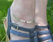 Load image into Gallery viewer, Anklet Silver, Anklet Women, Anklet Bracelet, Silver Coin Jewelry, Silver Ankle Bracelet, Minimalist Anklet, Boho Gift Ideas