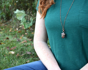 Acorn Necklace, Acorn Pendant, Acorn Jewelry, Forest Necklace, Woodland Necklace, Nature Inspired Jewelry, Nature Lover Gift