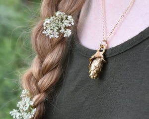 Pinecone Jewelry, Pinecone Pendant, Pinecone Necklace, Nature Jewelry Women, Woodland Jewelry, Unique Gold Necklace, Nature Lover Gift