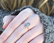 Load image into Gallery viewer, Sapphire Ring, Sapphire Jewelry Women, Blue Sapphire Jewelry, September Birthstone Ring, Raw Gemstone Ring, Birthstone Gifts Her