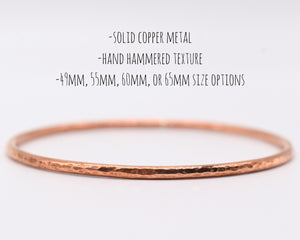 Hammered Copper Bracelet, Hammered Bangle, Hammered Copper Jewelry, Copper Bangle, Stackable Bracelets Women, Copper Gifts Her