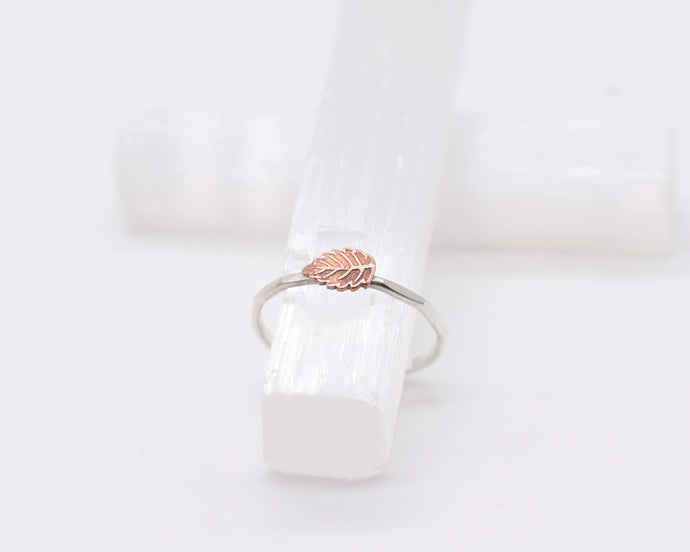 Leaf Rings Women, Leaf Ring Silver, Silver Leaf Jewelry, Nature Jewelry Women, Nature Gifts Women, Dainty Stackable Ring, Present Her