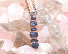 Load image into Gallery viewer, December Birthstone Jewelry, December Birthstone Necklace, December Birthday, Birthstone Gifts Her, Tanzanite Jewelry, Raw Gem Jewelry