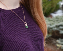 Load image into Gallery viewer, Sea Glass Necklace, Sea Glass Pendant, Sea Glass Jewelry, Elegant Necklace, Rhodium Necklace, Beach Glass Pendants, Italy Gift