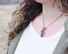 Load image into Gallery viewer, February Birthstone Jewelry, February Birthstone Necklace, February Birthday, Birthstone Gifts Her, Raw Amethyst Jewelry, Raw Gem Jewelry