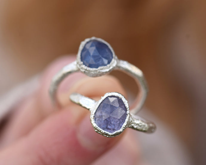 Tanzanite Jewelry, Tanzanite Ring, Tanzanite Stone, Raw Gem Jewelry, Purple Crystal Jewelry, Birthstone Gifts Her, December Birthstone