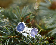 Load image into Gallery viewer, Tanzanite Jewelry, Tanzanite Ring, Tanzanite Stone, Raw Gem Jewelry, Purple Crystal Jewelry, Birthstone Gifts Her, December Birthstone