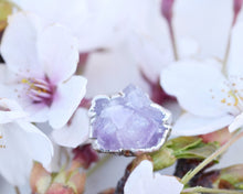 Load image into Gallery viewer, Silver Amethyst Ring, Raw Silver Jewelry, Organic Silver Ring, Amethyst Birthstone, Raw Amethyst Jewelry, February Ring, Romantic Gifts Her