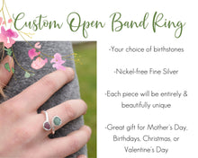 Load image into Gallery viewer, Personalized Ring, Personalized Mom Jewelry, Personalized Mom Gifts, Birthstone Ring Mom, Custom Birthstone Ring, Unique Gift Mom