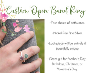 Personalized Ring, Personalized Mom Jewelry, Personalized Mom Gifts, Birthstone Ring Mom, Custom Birthstone Ring, Unique Gift Mom