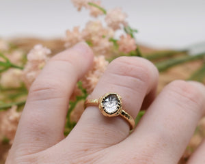 Morganite Ring, Morganite Ring Gold, Oval Morganite Ring, Oval Gold Ring, Electroformed Ring, Electroformed Jewelry, Clear Crystal Rings
