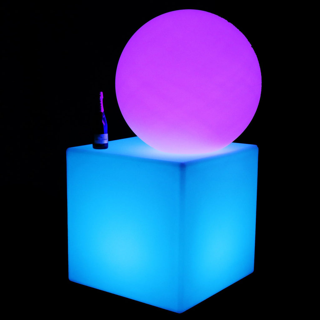 LED cube and sphere