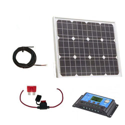 40w solar panel with charge controller