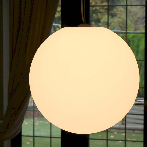 50cm Hanging, Mains Powered LED Orb Light - Warm White