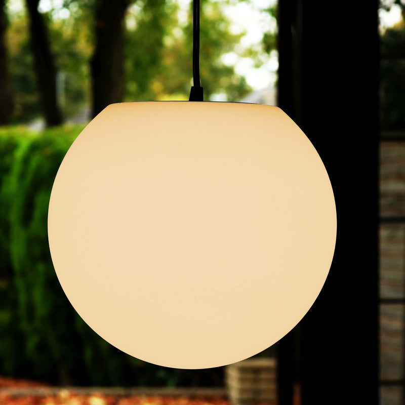 LED Ceiling Pendant Lighting, 30cm Globe Orb Lamp, Warm White E27 Bulb