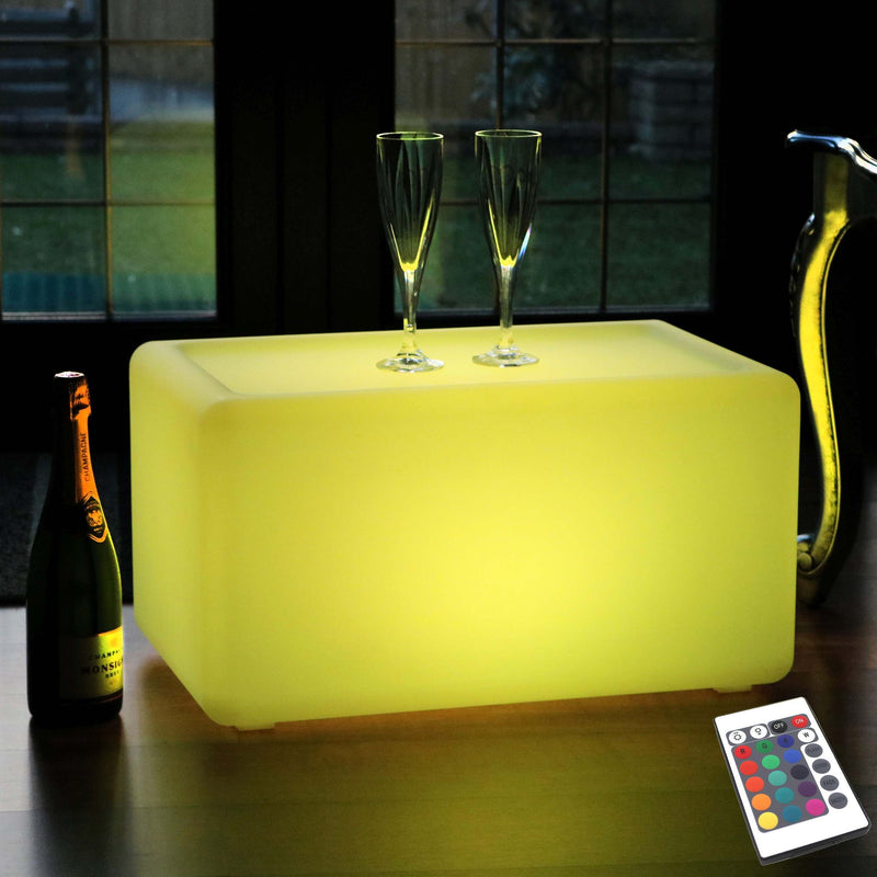 Illuminated LED Bench, Cordless Colour Changing Floor Lamp, 55cm Long