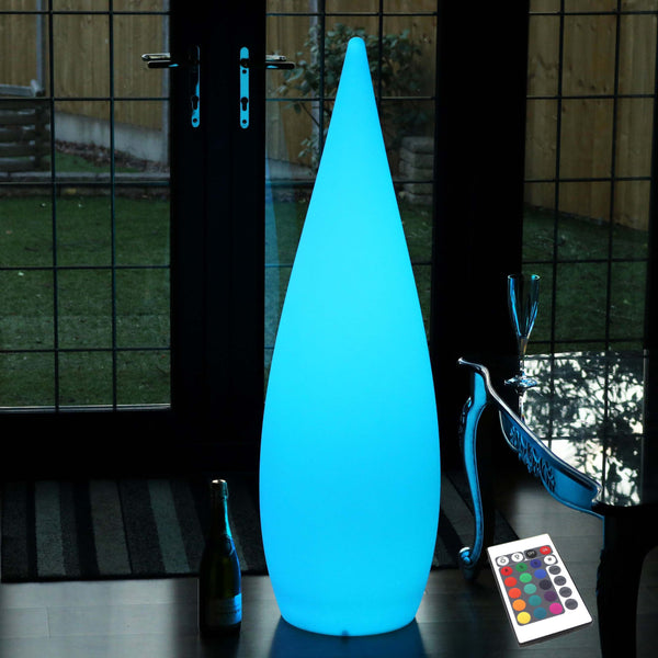 Large Decorative LED Floor Lamp, Cordless, Colour Changing, 120cm Tall