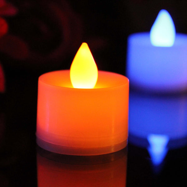 gradual colour changing electric led tealights