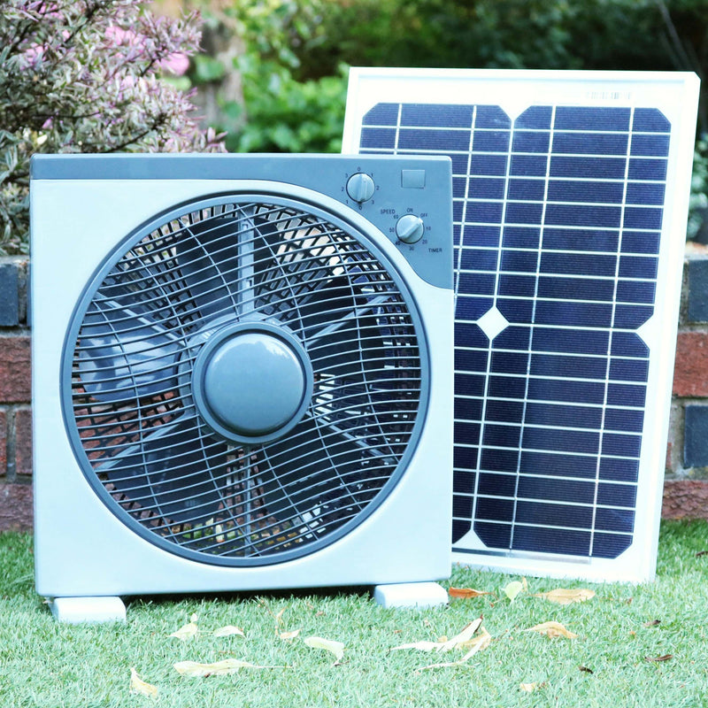 Solar 12V DC Fan for Caravan, Boat with 20W Panel