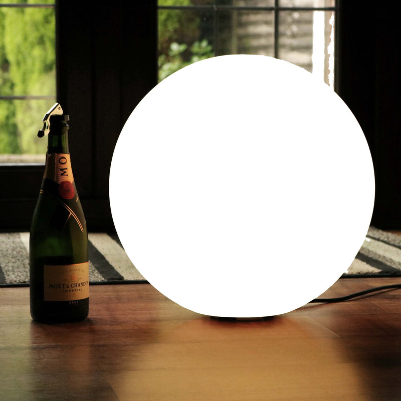 Modern Globe Floor Lamp, 40cm LED Sphere Lounge Light, White E27 Bulb