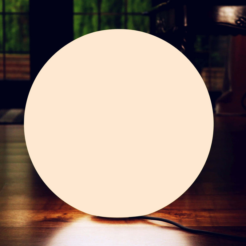 60cm LED Orb Floor Lamp Warm White Dimmable Mains Powered Light