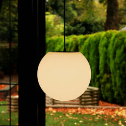 15cm Ceiling Ball Light, Mains Powered Hanging Sphere Pendant - Warm White
