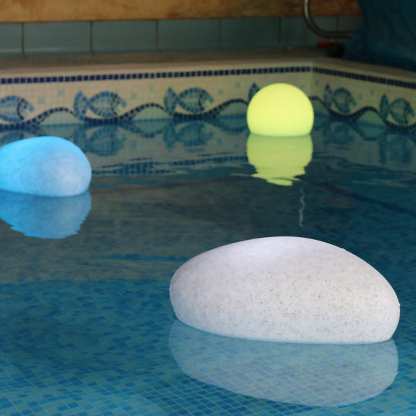 Floating Pool Light, RGB Waterproof LED Patio Hot Tub Jacuzzi Pond Lamp, Deco Pebble Stone