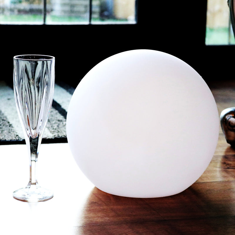 25cm Ball Sphere Shell Lampshade, Semi Transparent PE Plastic, Table Orb Globe, 250mm Dia.