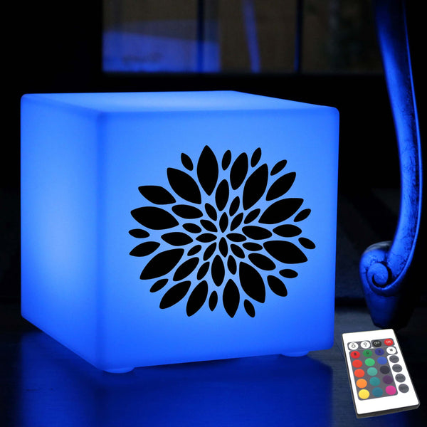 Quirky Lightbox, Bedroom Dimmable Wireless Table Lamp for Bar, Cube , Flower Light