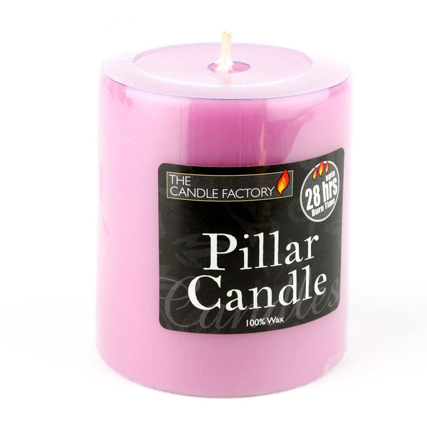 wax pillar candle pink party event lighting