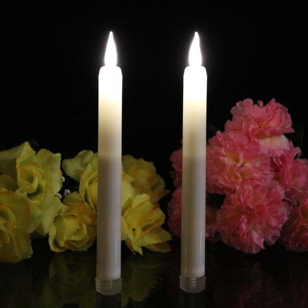tall battery taper candles